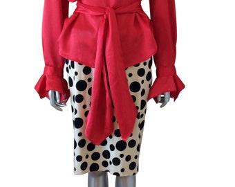 Vintage Rouie Silk Red Blouse