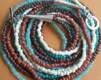 Beaded Necklace - Turquoise Love