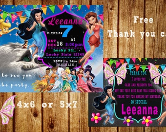 TinkerBell Legend of the Neverbeast Birthday Invitation, Tinkerbell Invitation, Fairy Invitation,Tinkerbell Birthday,Tinkerbell Party,Disney