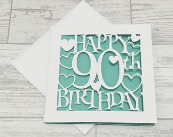 90th birthday card etsy 90th birthday card ninetieth birthday 90th card happy 90th birthday special birthday bookmarktalkfo Images