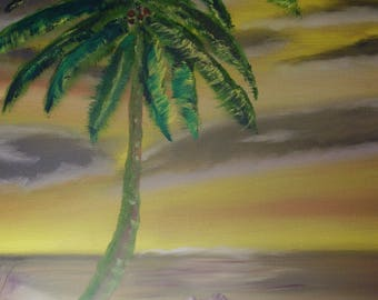 Oil Painting No: 061- Tropical Paradise