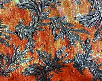 NEW Orange Multi Floral Design on Mesh