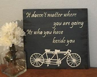 Bike wood sign