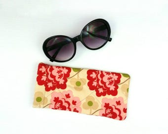 Glasses case sunglasses case sunglasses pouch retro glasses case quilted glasses case glasses slip case cute gift practical gift retro style