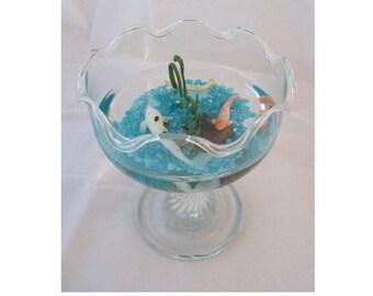 Miniature Koi Goldfish Bowl Pool Handcrafted Koi Goldfish Bowl