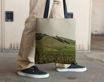 Napa Vineyards Landscape 7225 , Tote Bag, Grocery Tote Bag, Book Tote Bag