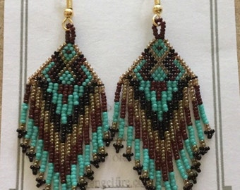 15/0 Beads Native American Earrings