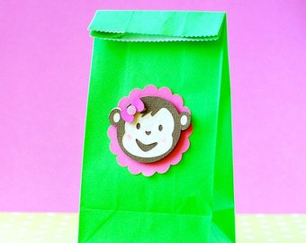 Mod Monkey inspired party favor bags