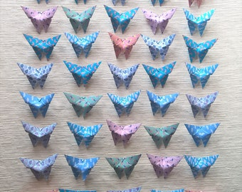 Origami butterflies Paper small Favors magnets (40PZ)