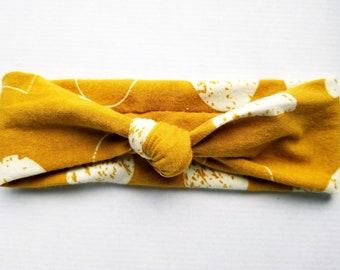 Moon Top knot headband