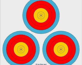Vegas 3 spot outdoor archery target, 40cm archery target