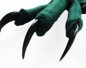 Green Feet with Talons. Three Sizes. Bird, Monster, Creature, Alien.