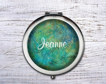 Compact Mirror, Bridesmaid Gifts Cosmetic Mirror Personalized Gifts for Mom, Birthdays, Ladies, Girls, Women