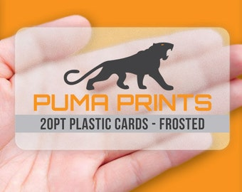 Frosted Plastic Business Cards - Full Color, 20pt Frosted Plastic, w/Rounded Corners