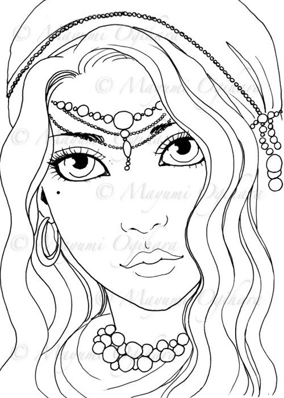 beautiful girls printible coloring pages - photo#30
