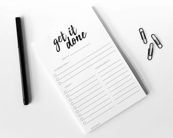 Get IT Done Notepad - Gift Stationery - To Do Notepad - Stationery - List Pad - Motivational - To Do List
