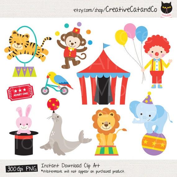 Circus Clipart Clip Art Circus Animal Clipart Clown Clipart