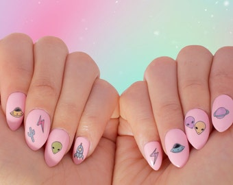 SALE - Nail Tattoos / Nail Decals / Nail Stickers - The Rosewell Collection