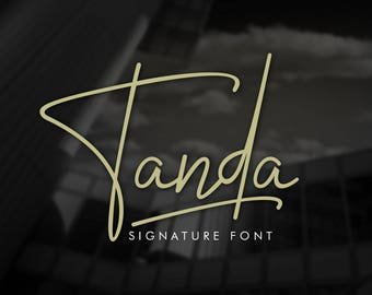 Tanda Signature Font