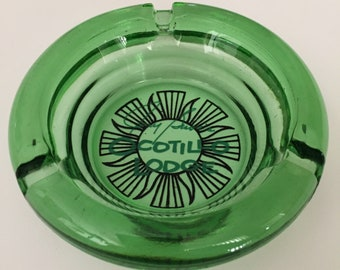 Vintage Ocotillo Lodge Round Green Ashtray Jerry Buss's Palm Springs California