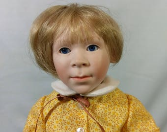 "11"" Allie May Porcelain Doll by Artist Betty Bailey Originals 1987 #3 of 45"