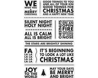 Hero Arts clear stamp set, Christmas Carols stamp, Tag stamps, Holiday Stamp set