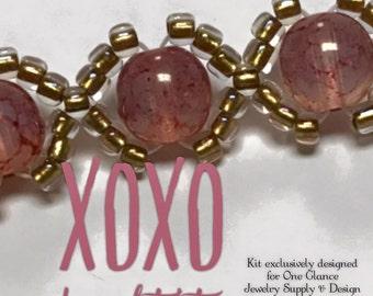 XOXO bracelet kit, pink