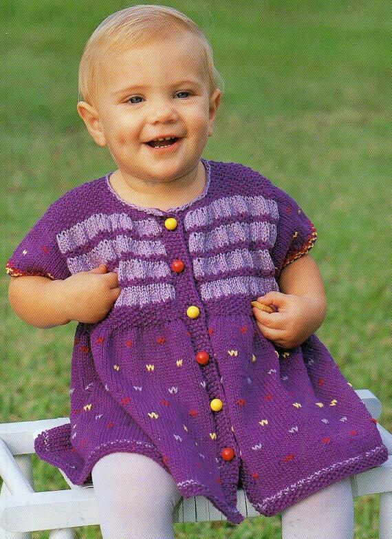 Childs Dress Knitting Pattern Toddler Dress Knitting Pattern Pdf