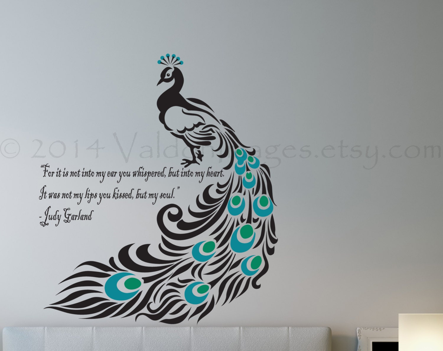 Peacock Wall Decal Bird Wall Decal Bedroom Wall Decal