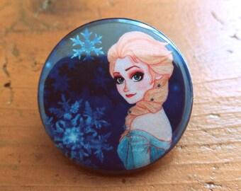 Elsa Queen from snow 32 mm badge