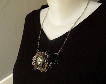 The fortune teller inspired steampunk COG gear necklace