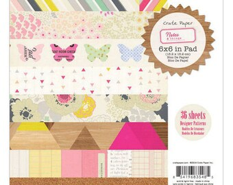 Crate Paper Notes & Things - 6x6 Paper Pad  -- MSRP 6.00