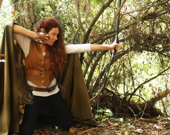 Medieval cloak, Elven cloak, Light cloak, Hooded cloak, Ranger cloak, Medieval costume, Elf costume