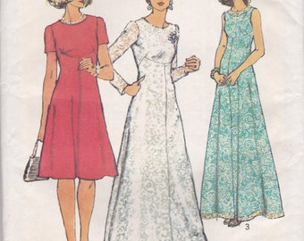 70s Dress Pattern Simplicity 6094 Size 10 Uncut