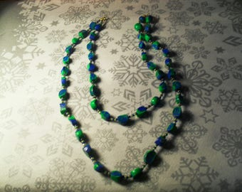 splendid necklace unique, stylish and original green and blue