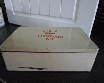 Vintage 1960s First Aid Kit Tin with Contents