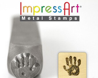 "RIGHT Hand Print  METAL STAMP 9.5mm 3/8"" Steel Punch Child ImpressArt Stamping Jewellery Tool Jewelry Making Tool"