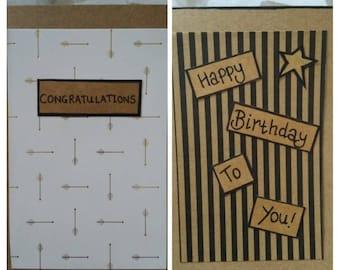 Modern greetings cards happy birthday congratulations men