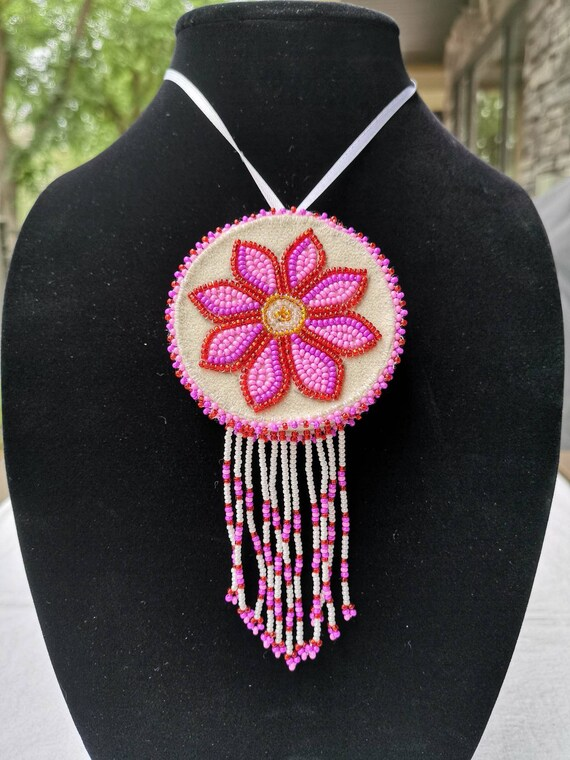 Beaded Gwich'in Floral Style Ornament