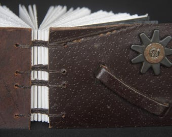 Saddle Collection Blank Page Journal - Mini