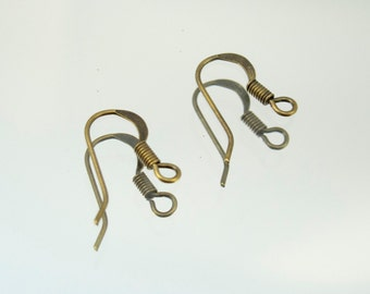 Antique Brass Earwire Earring Hooks 72 Pairs # 45-60