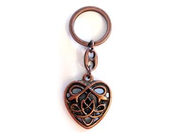 Celtic Heart Keychain Altbronze pendant celtic Heart Celtic Jewelry
