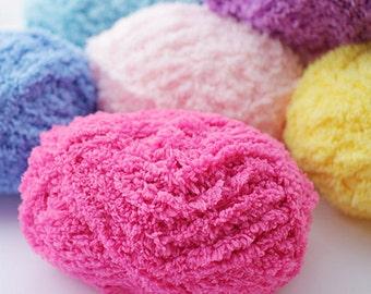 24 Colors Pipsqueak Yarn / 50g Knitting Yarns / Crochet Yarn / Baby Yarns / Fluffy Yarn