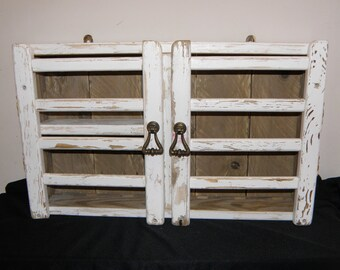 Shabby Chic Distressed Driftwood Wall Cabinet - Reclaimed Wood