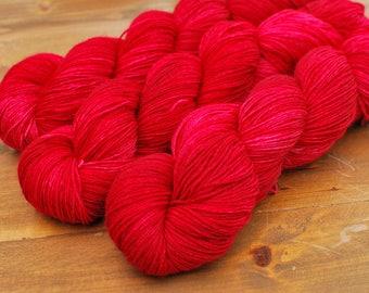 Christmas Dress, Hand Dyed Yarn, SW Sock