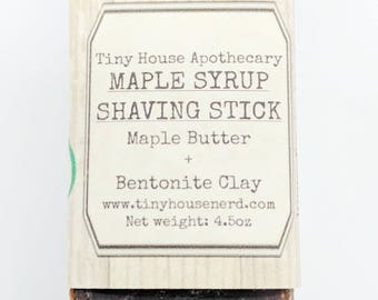 Shaving soap, maple syrup soap, bentonite clay soap, clay soap, organic soap, Castile soap, shaving stick, shave gift
