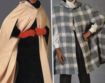 Vintage 1980s Hooded Cape Pattern McCall's 8799 80s Sewing Pattern Size Small 10-12 UNCUT