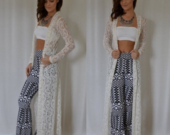 Lace Duster in Ivory