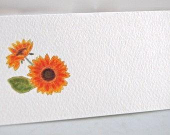 Sunflower Place Card, Tented Name Cards, Place Seating Cards, Blank Seating Cards, Event Table Decor, Floral Name Cards,Wedding Decor