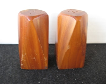 Vintage Wooden salt and pepper shakers